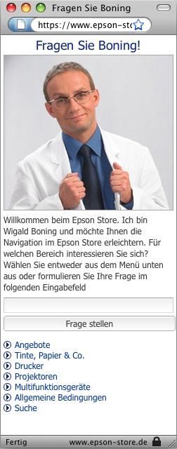 Wigald Boning bei Epson