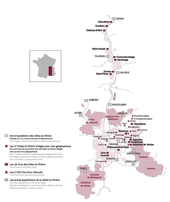 Piemont Weinbau Karte.Weinrallye Nr 44 Die Rhône Der Fluß Der Wein Die Winzer