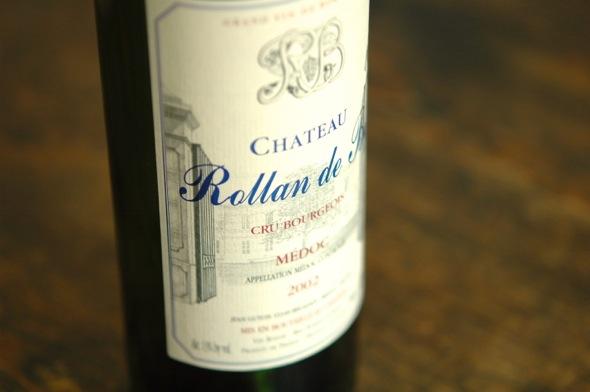 Flasche Rollan de By Cru Bourgeois Médoc 2002
