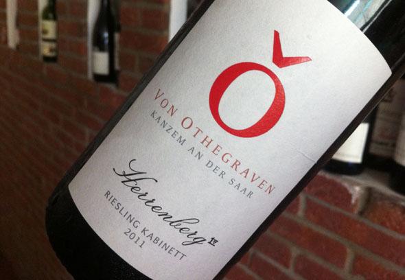 Der letzte Kabinett, den ich bisher probiert habe. ein 2011er Herrenberg, vinifiziert von Andreas Barth im Weingut von Othegraven