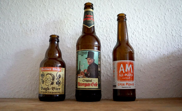 drei flaschen bier bogk berliner wei e original ritterguts gose gose mania originalverkorkt. Black Bedroom Furniture Sets. Home Design Ideas