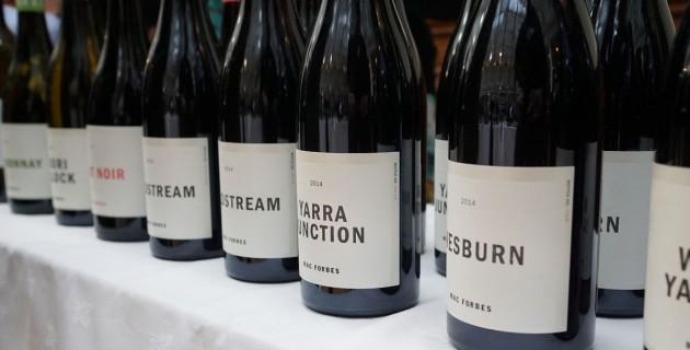 Eine ganze Reihe ausgezeichneter Pinots von Mac Forbes aus dem Yarra Valley, Copyright: C. Raffelt