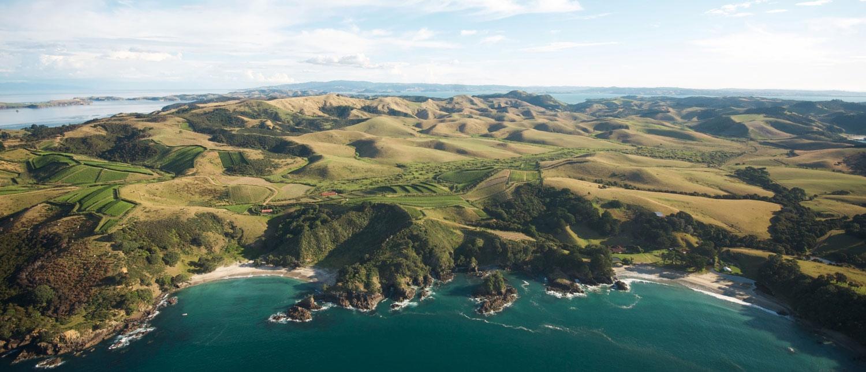 Blick auf die Bucht von Man O' War, Waiheke Island. Copyright: Man O' War Winery