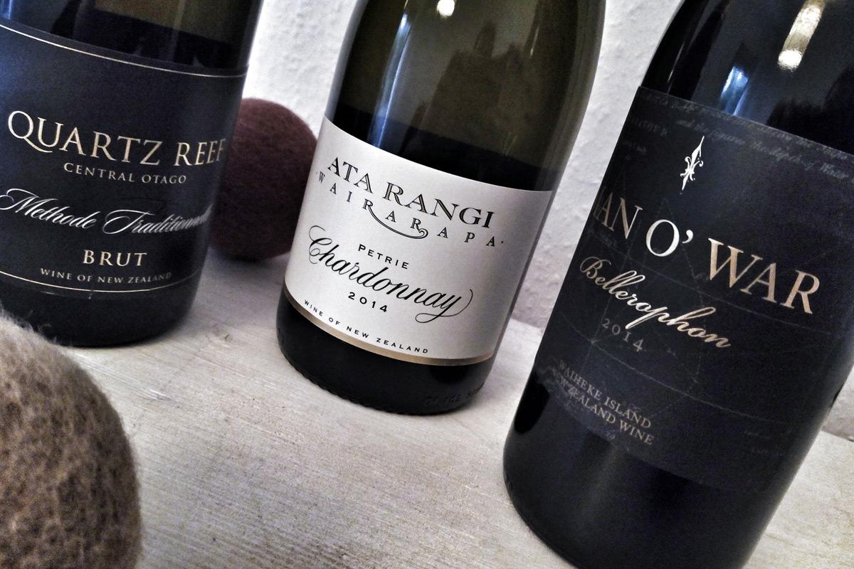 Drei Weine aus Neuseeland
